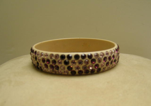 Celluloid vintage Purple and Lavender Bangle