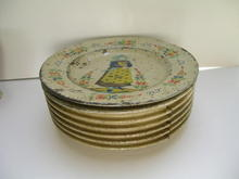 Quimper Vintage Dish Tin Fruit Cake Box