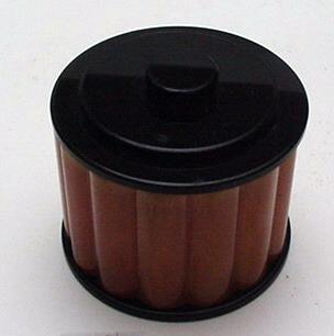 Bakelite Black and Orange Ribbed Deco Box
