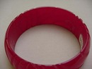 Bakelite Dark Red Carved Bangle