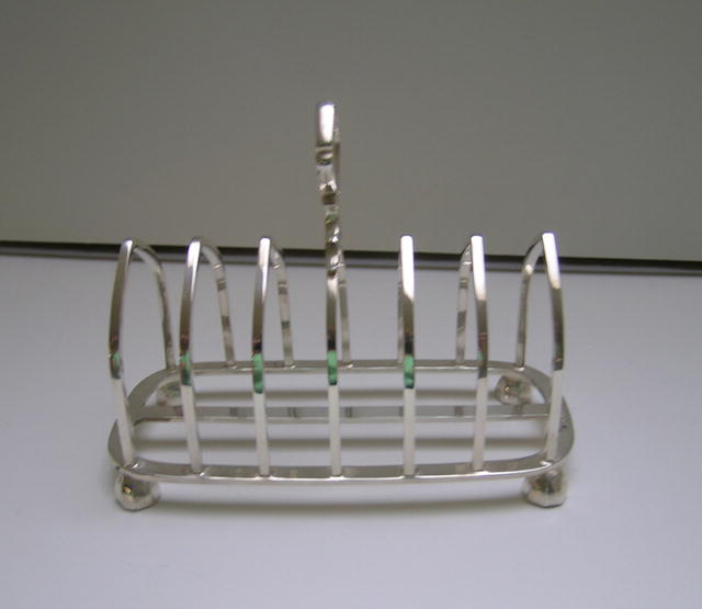 English Sterling Silver Toast Rack  1937