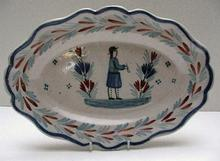 Lovely Oval Quimper Serving Platter