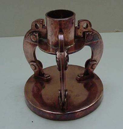 Dutch Copper Arts and Crafts Chamberstick