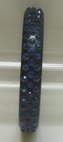 Celluloid Vintage Dark Blue Bangle with Dark Blue rhinestones