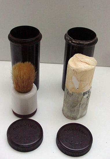 Bakelite English Set of Shaving Bursh and Shaving Soap