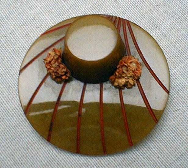 Bakelite Hat  Brooch