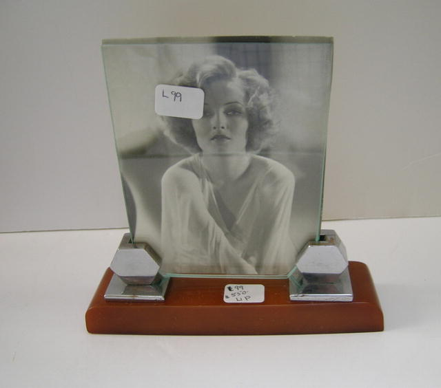 Bakelite and Chrome Deco English Picture Frame