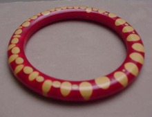 Bakelite Vintage Red dot Injected Bangle
