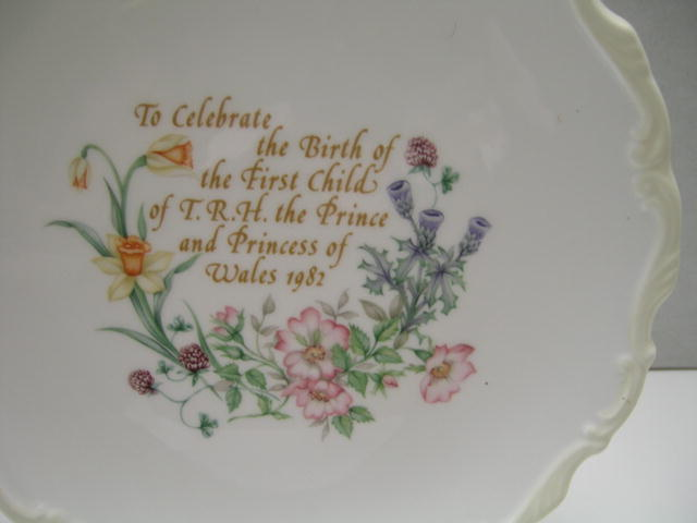 Commemorative Plate Celebrating Birth of