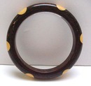 Bakelite Vintage Marbelized Brown & 6 Yellow