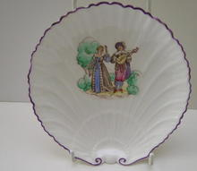Shelley China Large Oyster Plate Romantic