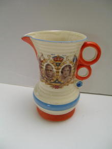 Wade Heath George VI Coronation Deco pitcher