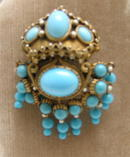 Kenneth J. Lane Early Indian Style Brooch