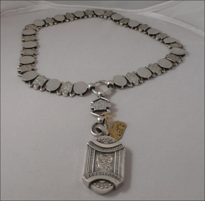 Victorian Sterling Collar and Locket