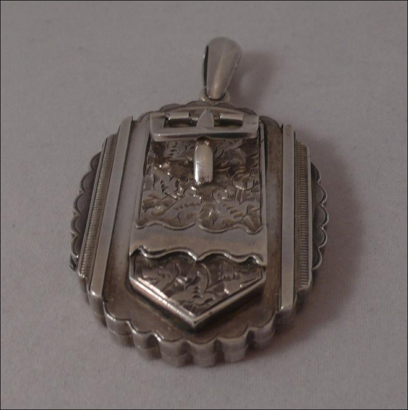 Victorian Sterling Silver Buckle Locket