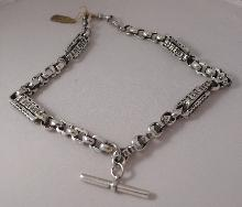 Vctorian Silver Plate Prince Albert Necklace