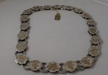 Victorian  Silver  & Gold Overlay Collar