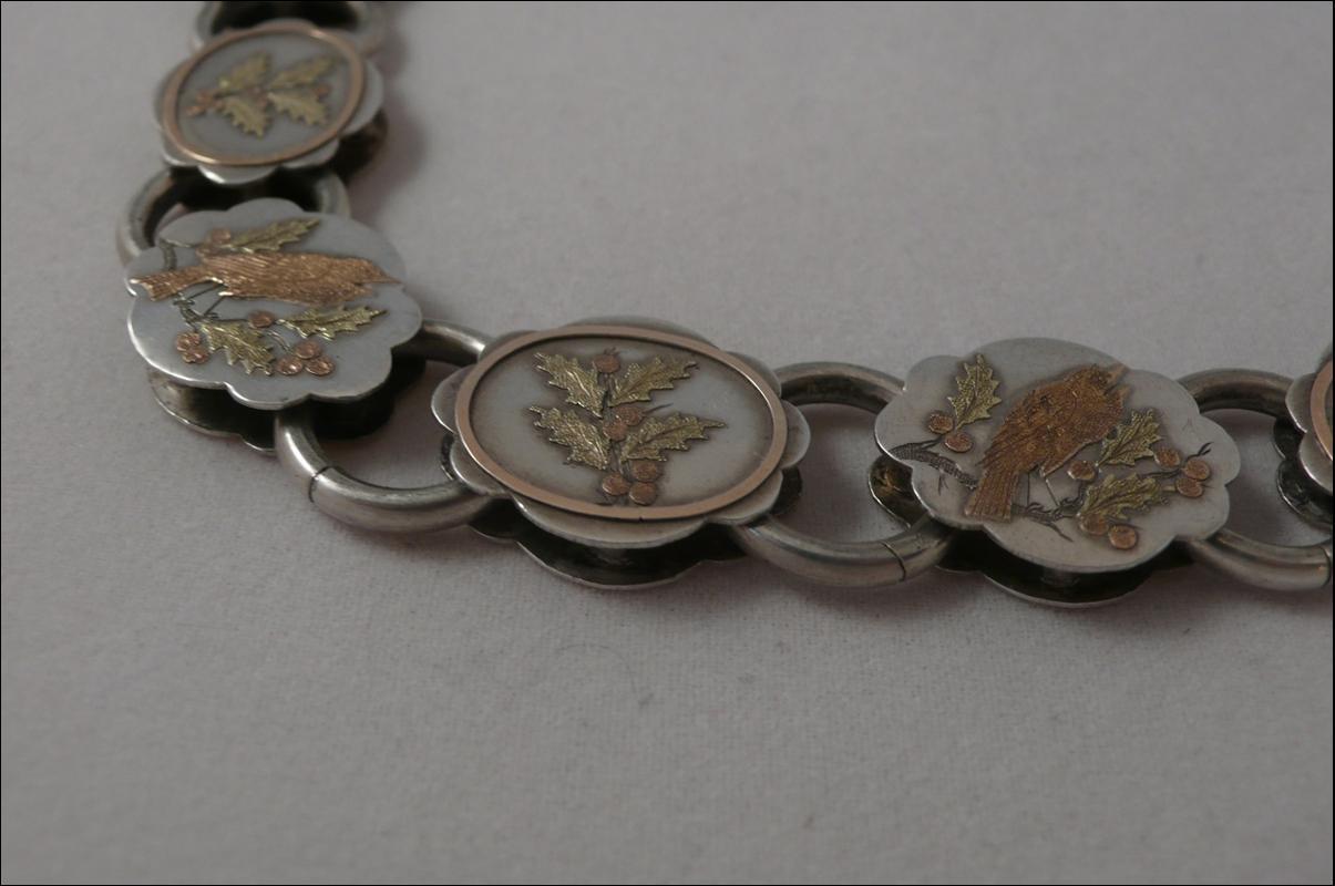 Victorian  Silver  & Gold Overlay Collar