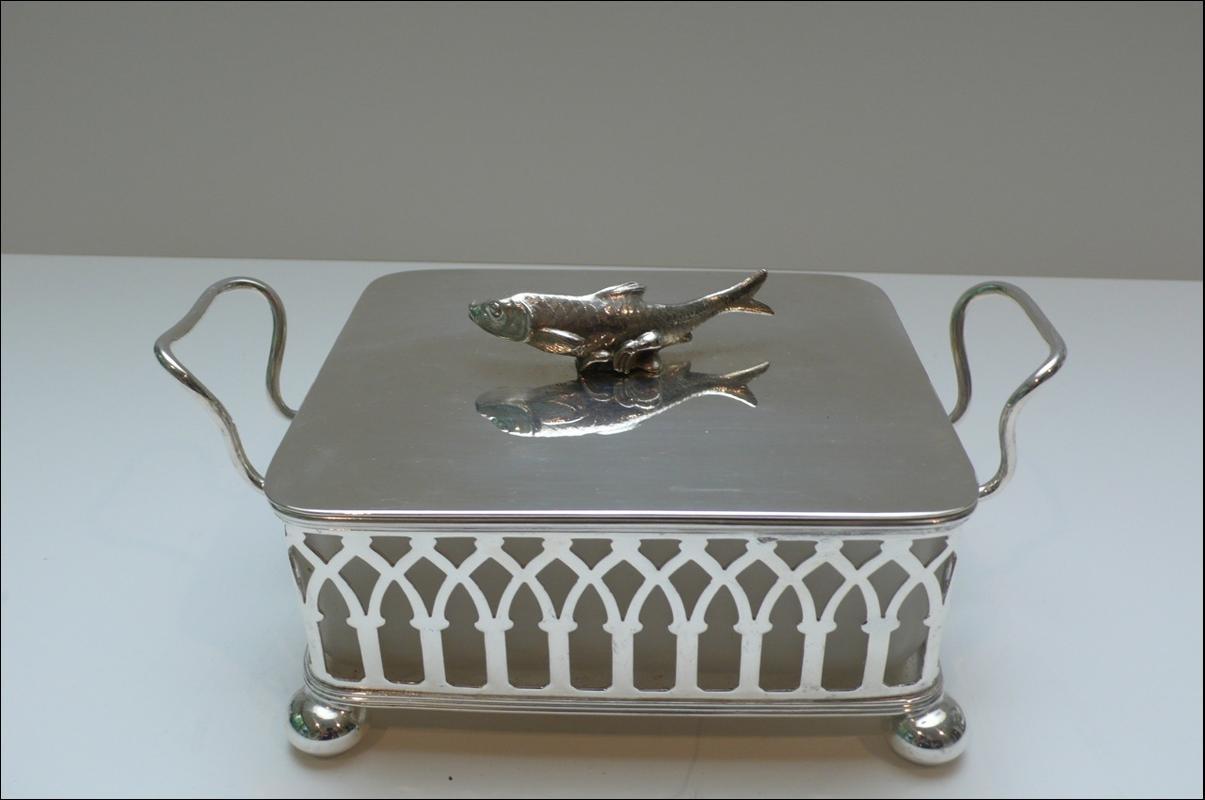 Victorian Silver Plated Sardine Dish
