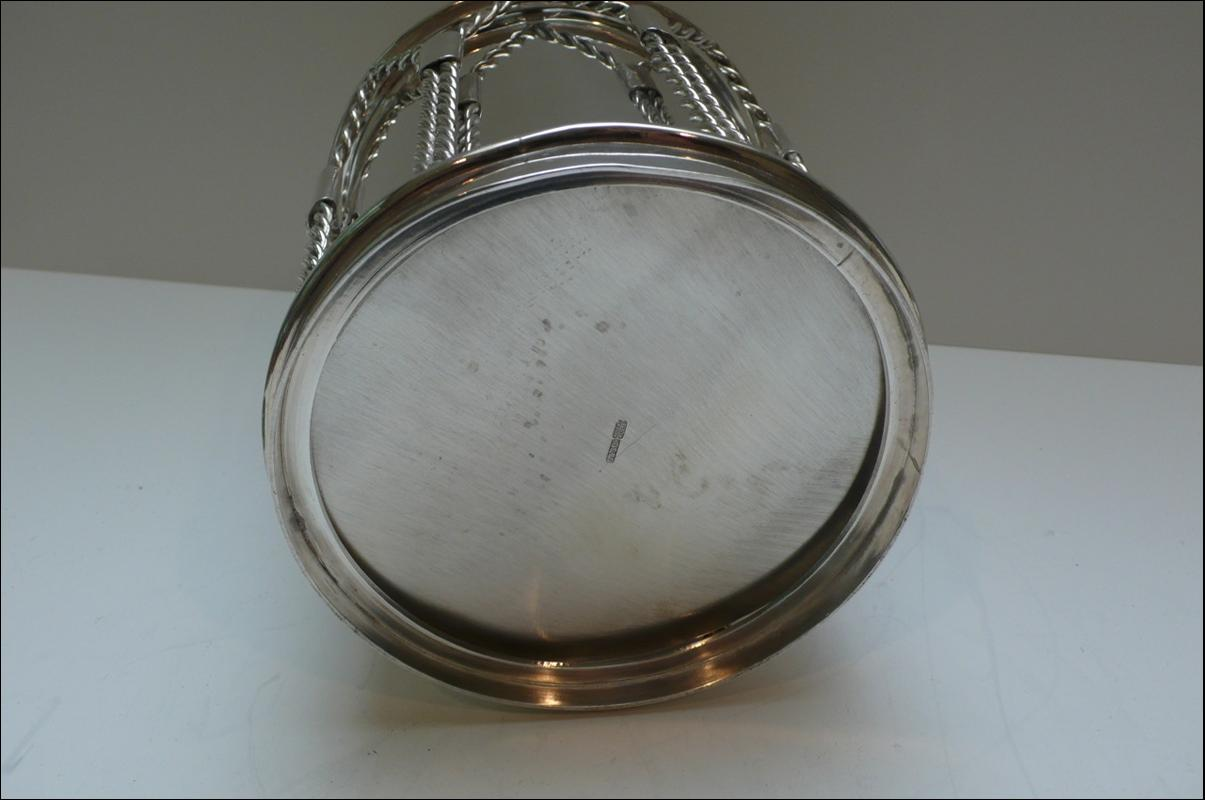 Rare Victorian Silver Plated Drum Biscuit Box