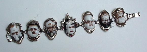 Vintage Chinese Faces Bracelet
