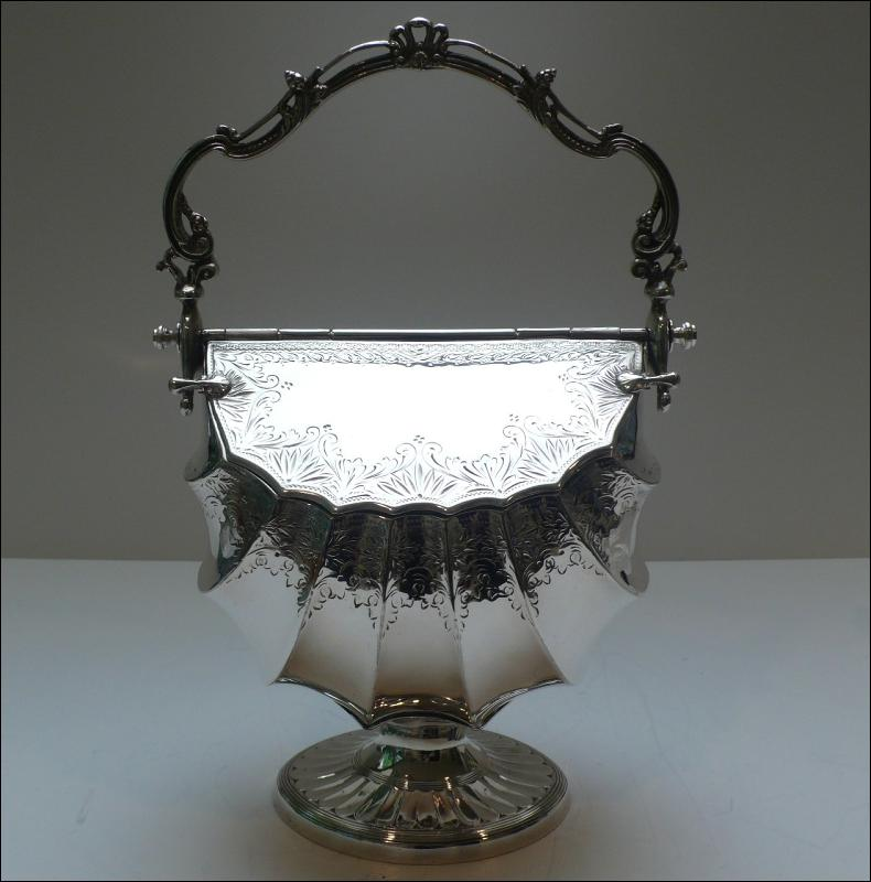 Victorian Silver lated Biscuit Box