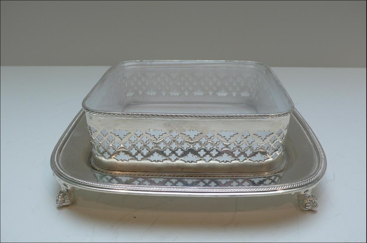 Victorian Silver Plate Sardine Box
