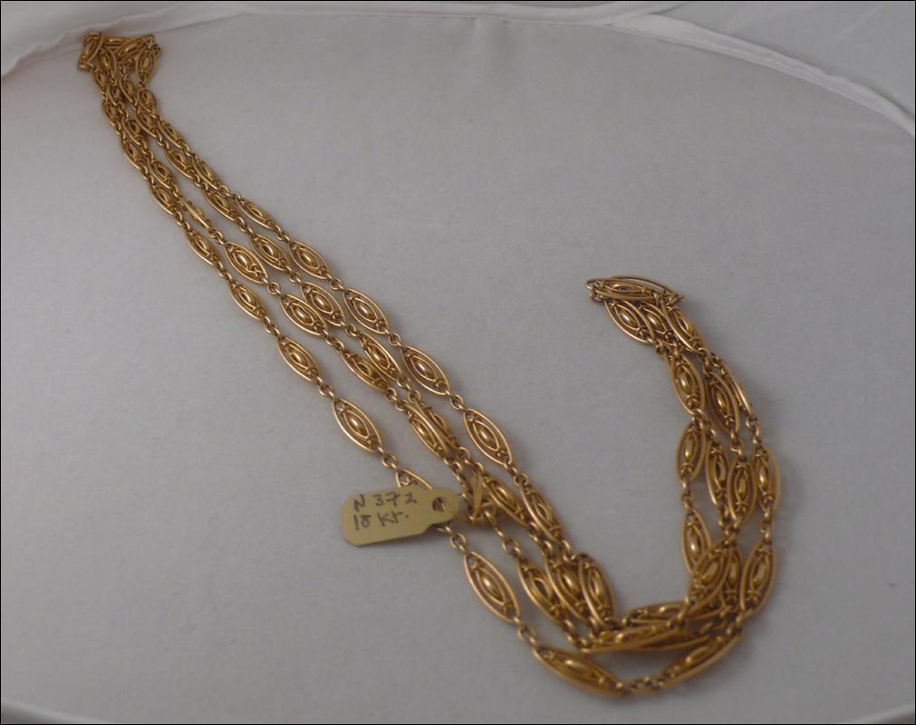 Victorian 18 KT. Gold Longguard Chain