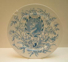 Commemorative George V and Mary Plate