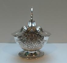 Victorian Silver Plated Biscuit Box