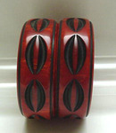 Bakelite Pair of Rust and Black  Bangles