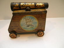 English Hartley and Palmer Cannon Biscuit Tin