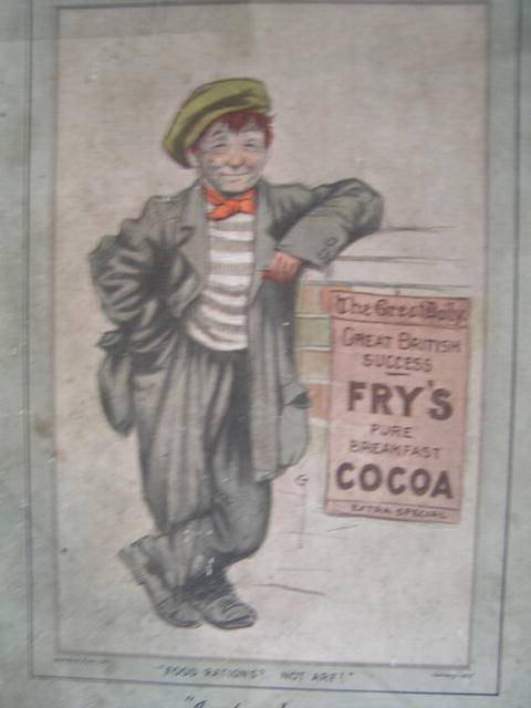Fry's Chocolate Advertising Sign