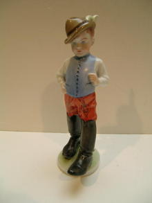 Herend Porcelain figure: Young Man in Hungarian
