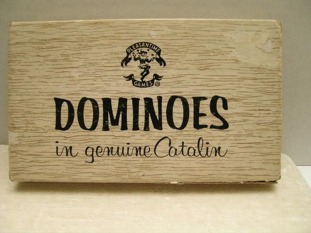 Vintage Bakelite Set of Dominoes -Original Box