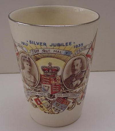 Commemorative: King George V and Mary Silver Jubilee Beaker