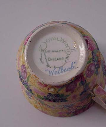 RWC: Royal Winton Vintage Chintz Welbeck Cup