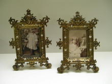 Victorian Pair of Elaborate Brass Frames