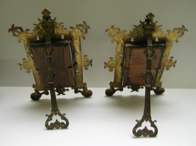 Victorian Pair of Elaborate Brass Frames