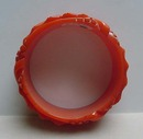 Bakelite (Carved coral orange bangle