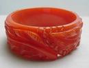 Bakelite (Carved coral orange bangle
