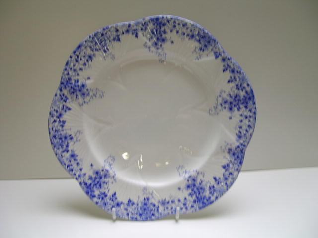 Shelley China Dainty Blue Cake Plate