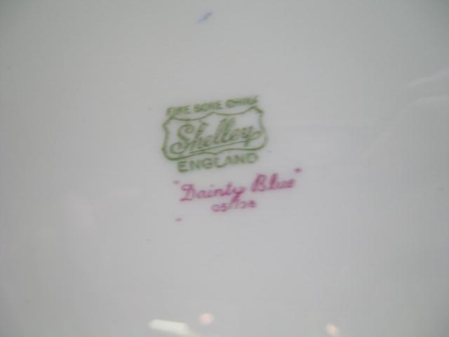 Shelley China Dainty Blue Cake Plate