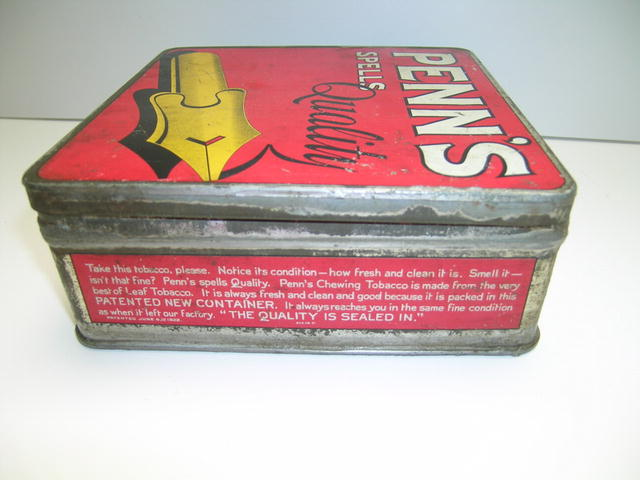 Penn's Natural Leaf Tobacco Advertising Tin