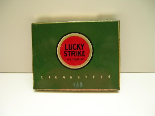 Lucky Strike Cigarettes Tin