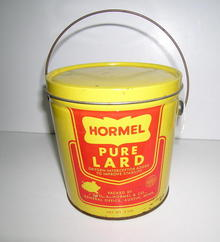 Hormel Pure Lard Advertising Tin