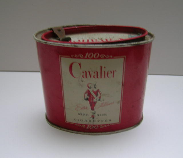 Cavalier King Size Cigarettes Advertising Tin