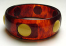 Bakelite Tortoiseshell Bangle with Inserted