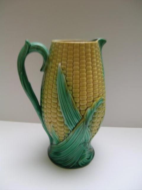 Majolica Corn Pitcher