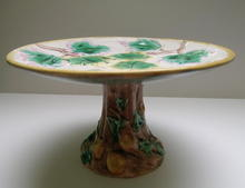 Majolica Maple Leaf Compote